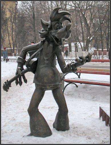 Персонажи советских мультфильмов в памятниках